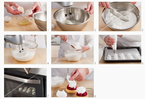 Steps for making meringue