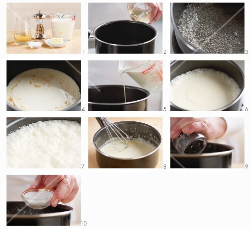 Steps for making cream sauce