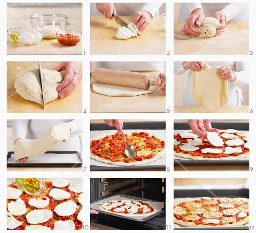 Making Pizza Margherita
