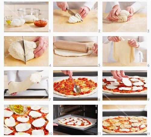 Making Pizza Margherita