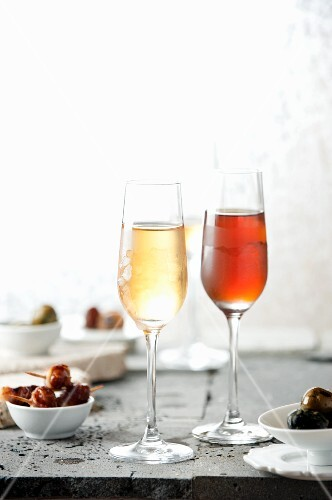 Tapas and two glasses of sherry