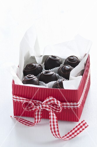 Chocolates in a gift box