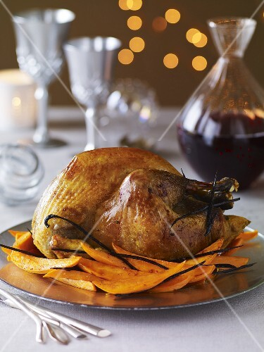 Roast turkey with vanilla