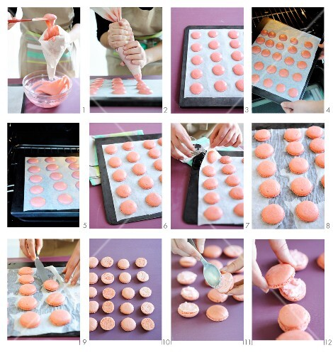 Macaroons being prepared