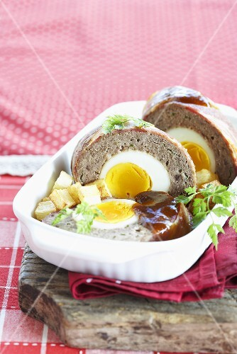 Meatloaf with egg