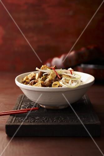 Mapo tofu (tofu and pork, China)