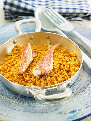 Rice with red mullet (Spain)