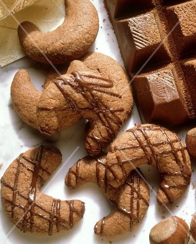 Chocolate cookies (Kipferl)