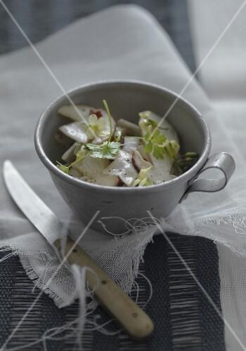 Boletus mushroom salad