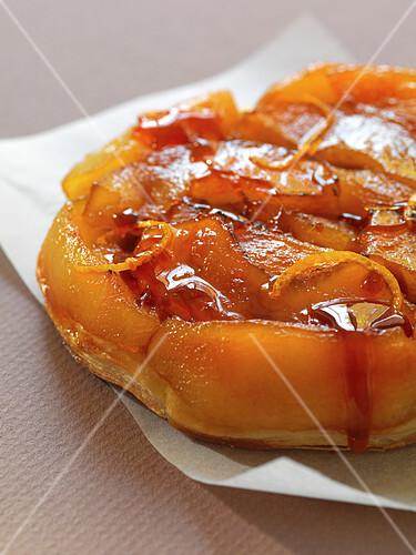 Apple and orange zest tatin tart