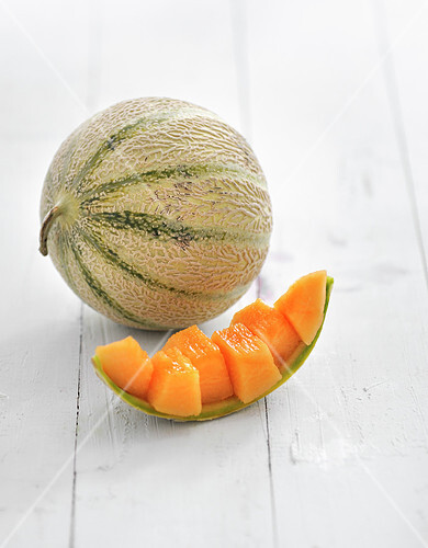 Quarter and whole melon