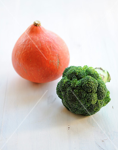 Pumpkin and broccolis