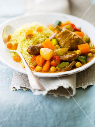 Plate of 3 meat Couscous