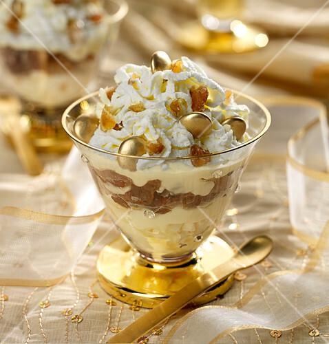 Candied chestnut trifle