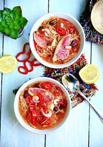 Chorba-Suppe mit mexikanischen Geschmacksaromen