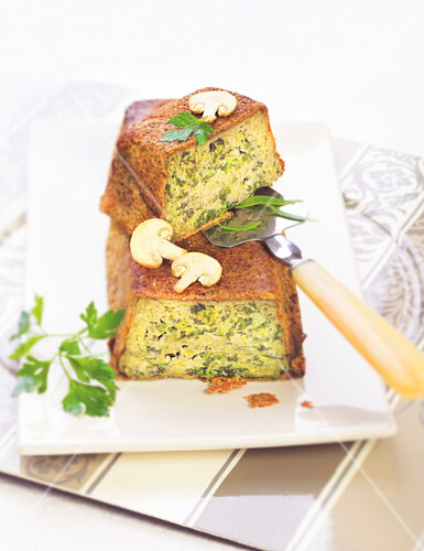 Spinach and boiled ham terrine