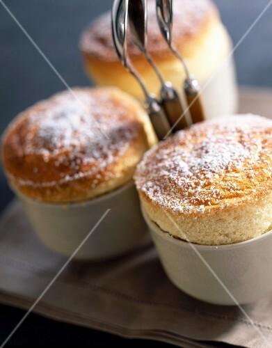 Individual vanilla soufflés