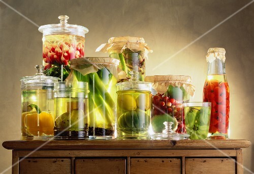 jars of fruit and vegetables