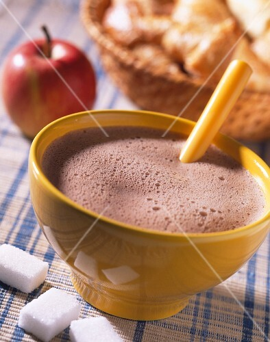 bowl of hot chocolate for breakfast