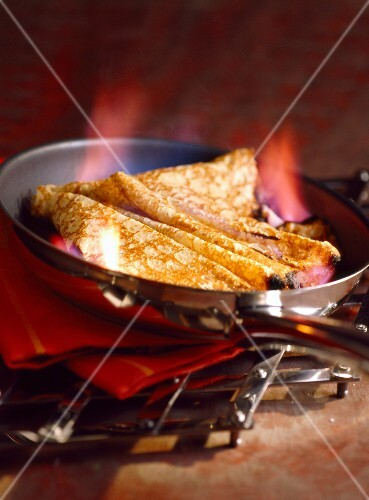 Flamed pancakes
