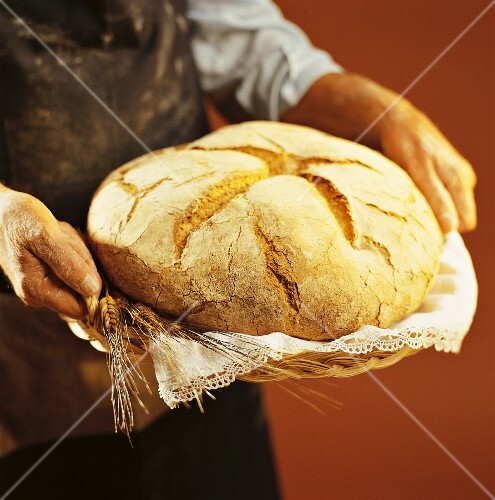 Round loaf of bread
