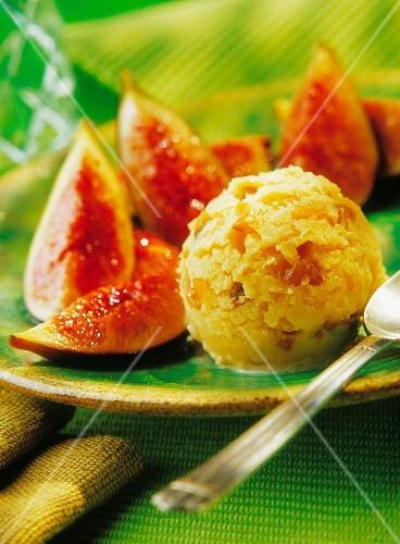 Fig and mushroom ice cream