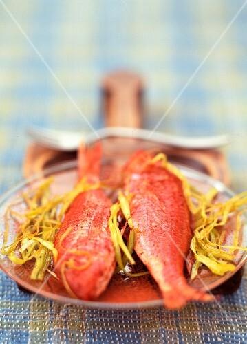 Surmullet Tandoori with fried leeks