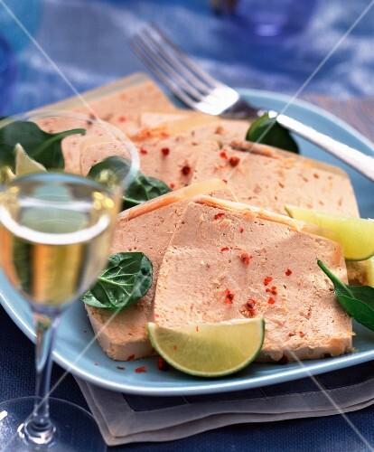 Smoked salmon and cream terrine