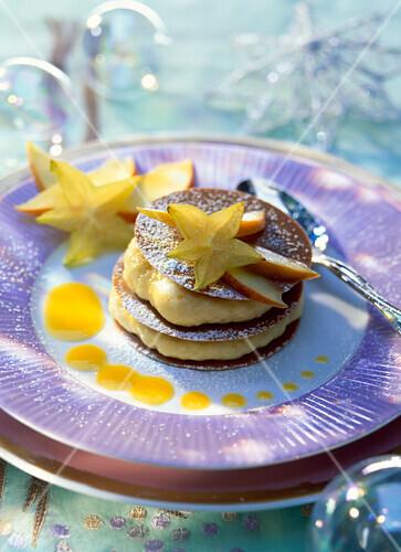 crunchy passion fruit dessert