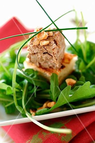 Pork conserve and poultry liver pâté