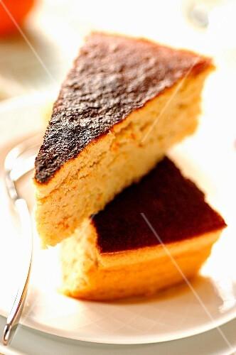 Slices of orange cake