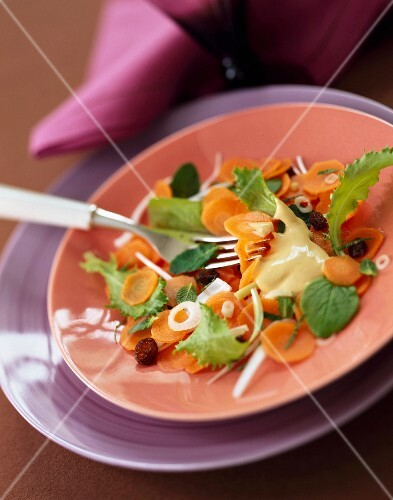 Carrot and mint salad
