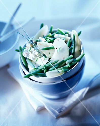 French bean and pear salad