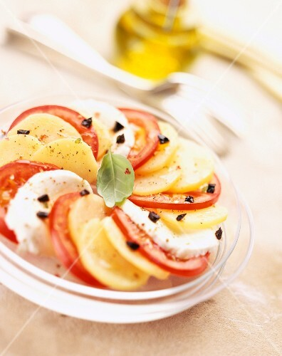 Tomato, mozzarella and potato salad