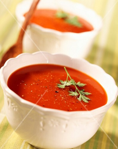 tomato consomme soup (topic: tomatoes)
