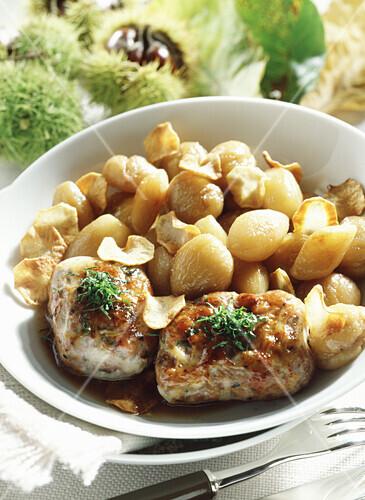 Fricassée chestnut and Jerusalem artichoke stew
