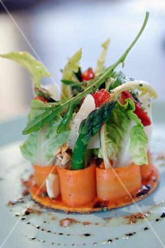 Fancy vegetable salad