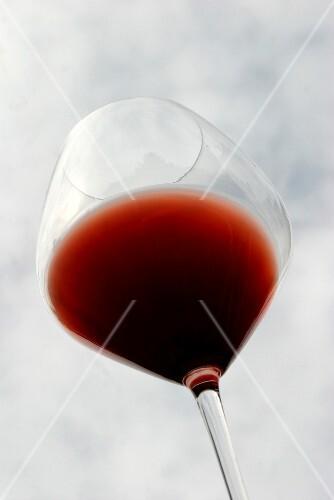 Glass of Burgundy wine
