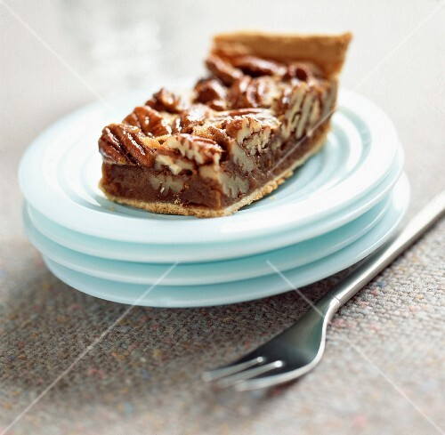 Pecan nut and toffee tart