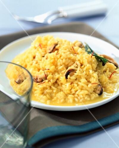 Mussel and saffron risotto