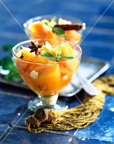 Pumpkin, almond and honey tajine