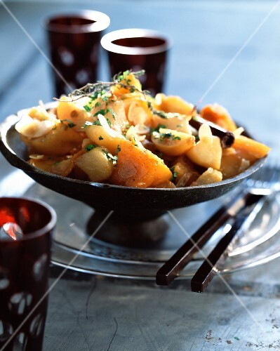 Pumpkin and sweet potato tajine