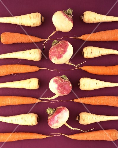 Carrots, parsnips and turnips for soup