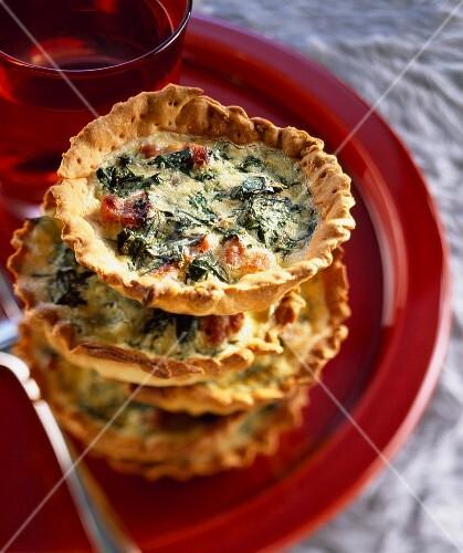 Swiss chard mini tarts with parmesan