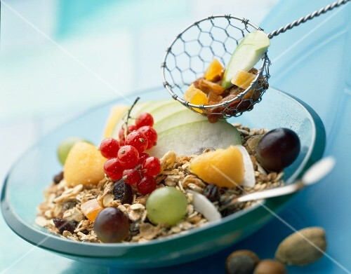 Cereal and fresh fruit