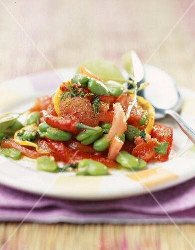 Oriental-style tomato salad