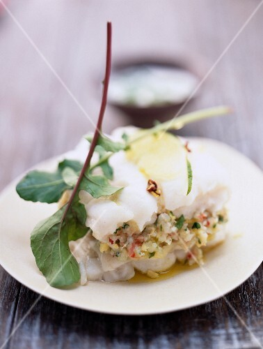 Thai fish layer with lime sauce