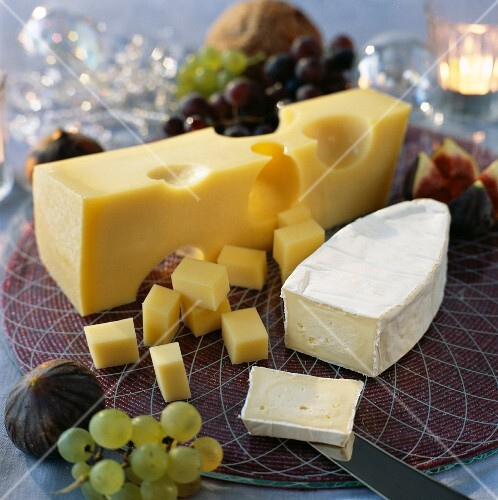 Selection of cow cheeses