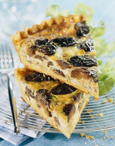 prune and onion tart