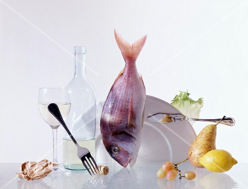 Composition of fruit, fish, vegetable and wine products